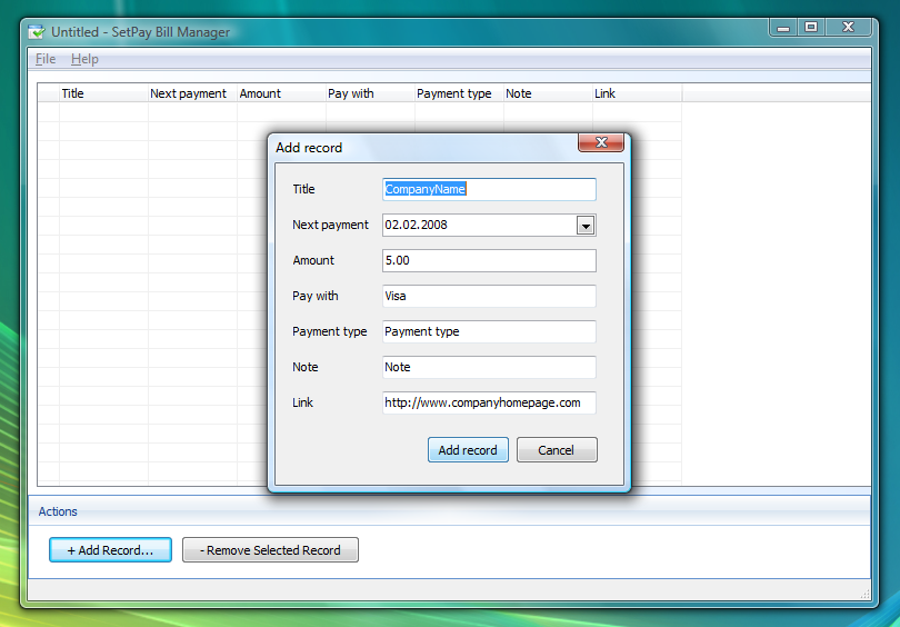 SetPay Bill Manager 1.00 full
