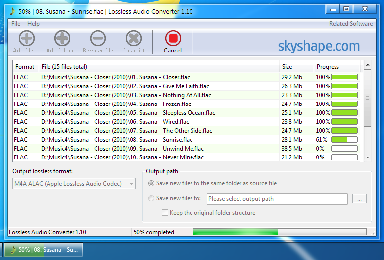Lossless Audio Converter Screenshot 1